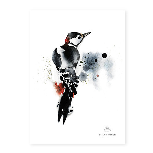 "Ester Visual WOODPECKER print (8.3"" X 11.7"")"
