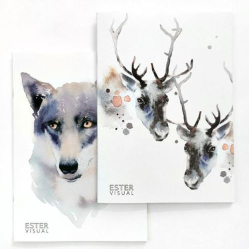 Ester Visual Wolf and Reindeer Notebook