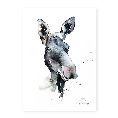 "Ester Visual Moose art card (5.12"" x 7.10"")"