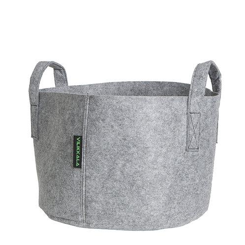 VILIKKALA Home Bag - Eco Friendly grey felt basket ( 6.08 gal )