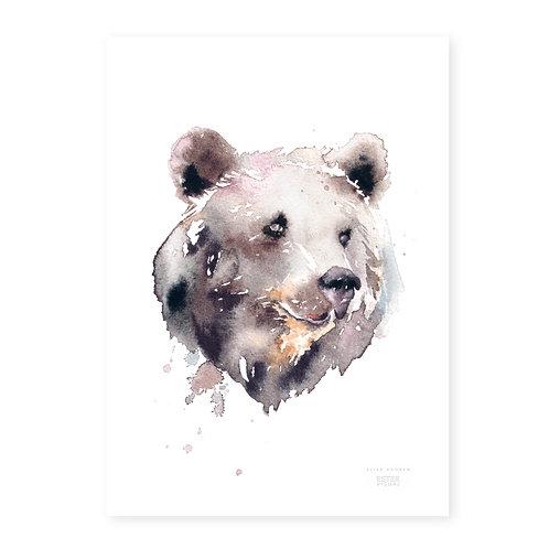 """Ester Visual Bear art card (5.12"""" x 7.10"""")"""