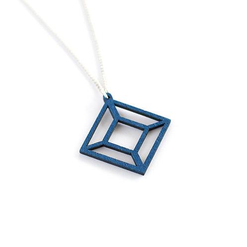 VALONA Himmeli wood necklace blue