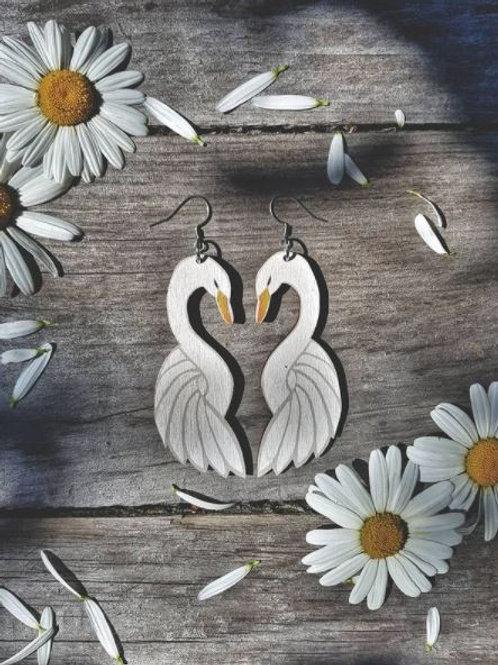 NEVER TOO LAKE Love Birds earrings