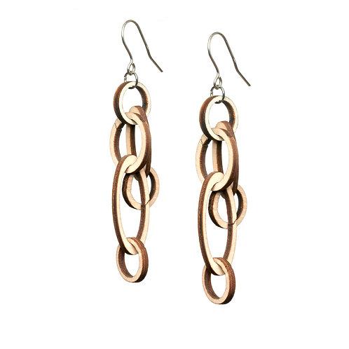 VALONA Halo wood earrings wood