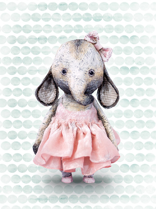 NENNI&FRIENDS Elephant poster ballerina