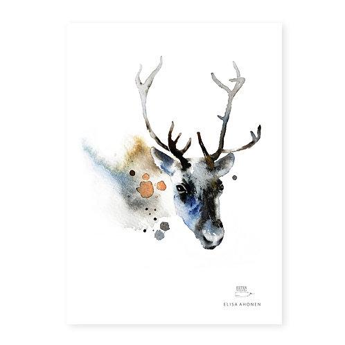"Ester Visual Reindeer art card (5.12"" x 7.10"")"