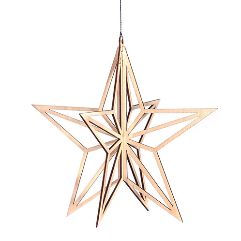 VALONA Star decoration, wood