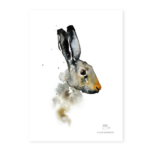"Ester Visual BROWN HARE print (8.3"" X 11.7"")"