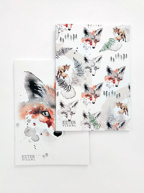 Ester Visual Fox Notebook x 2