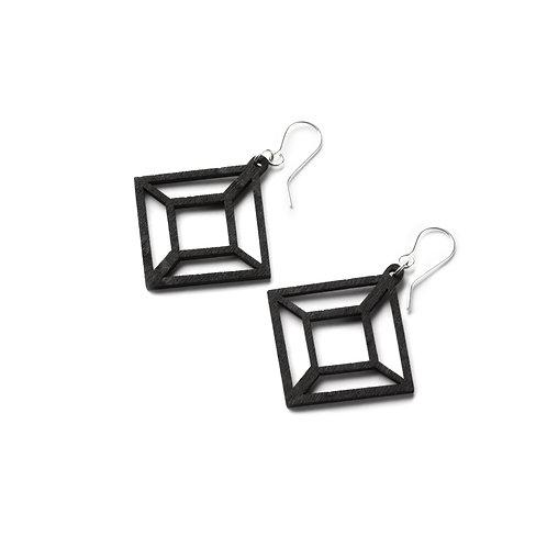VALONA Himmeli wood earrings black