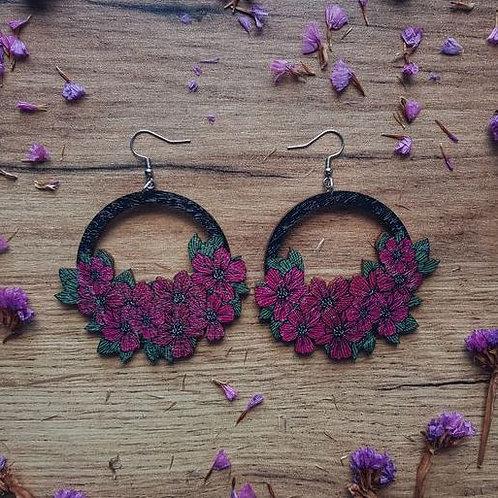 NEVER TOO LAKE Love & Survival burgundy earrings