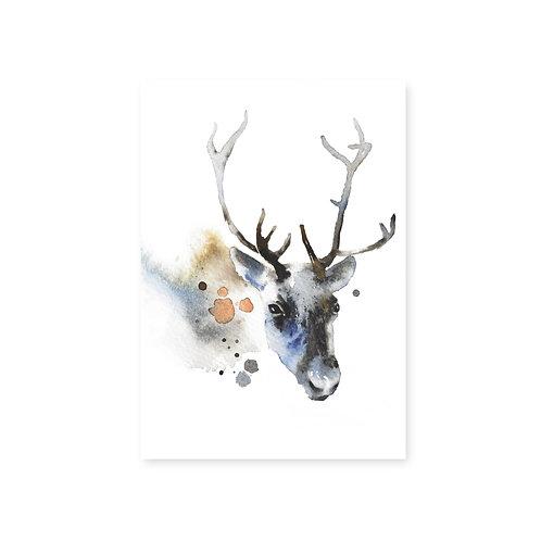 Ester Visual Reindeer postcard 4 x 6