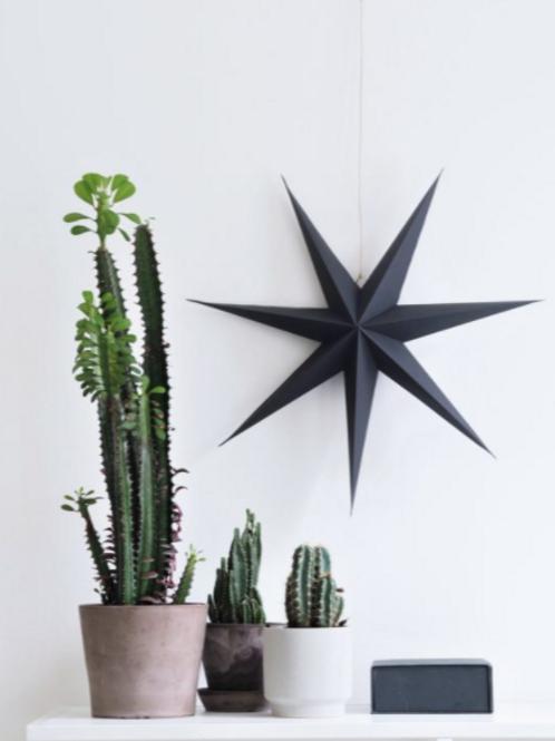RiiKe paper star, set of 3, Blueberry Blue