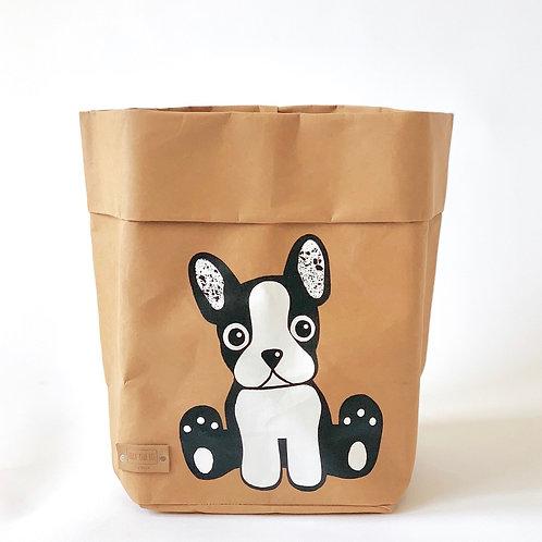 EnjoyyourlifebyDemi  brown DOG leather paper basket