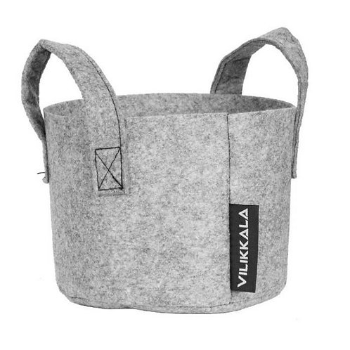 VILIKKALA Home Bag - Eco Friendly grey felt basket (0.79 gal)