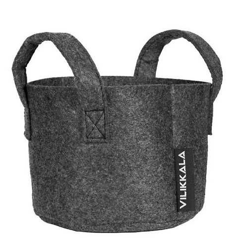 Vilikkala Home Bag - Eco Friendly graphite felt basket (0.79 gal)