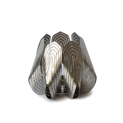 BE&LIV Blossom tealight candleholder steel