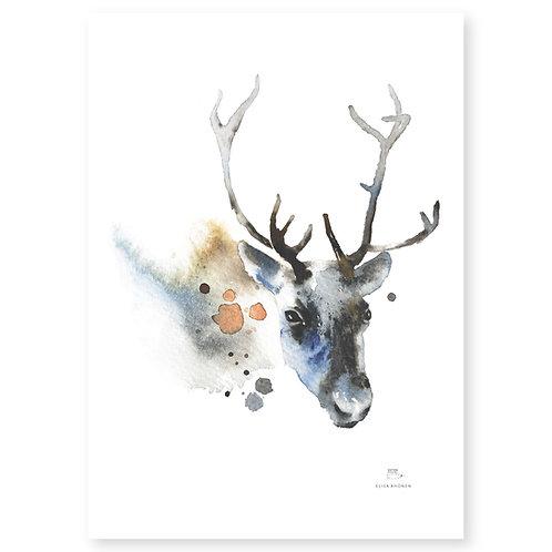 "Ester Visual REINDEER print (20"" X 28"")"