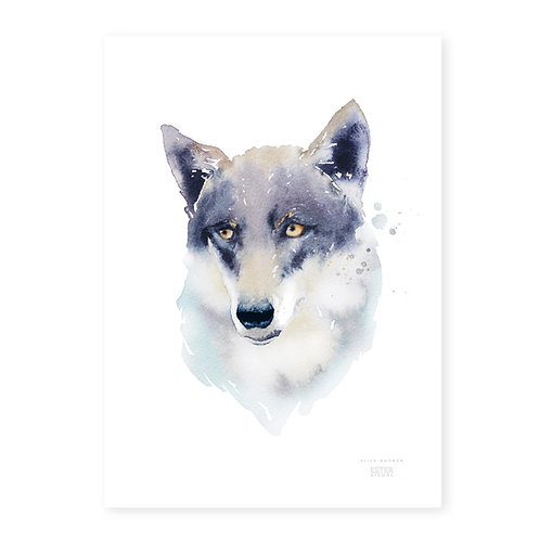 "Ester Visual Wolf art card (5.12"" x 7.10"")"