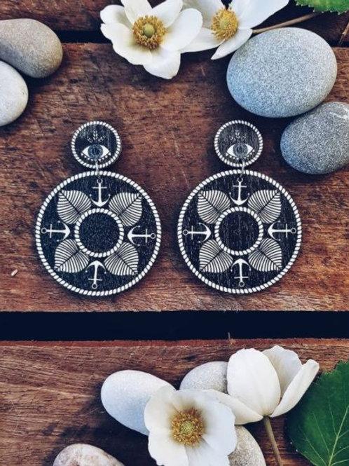 NEVER TOO LAKE Saimaa Mandala earrings