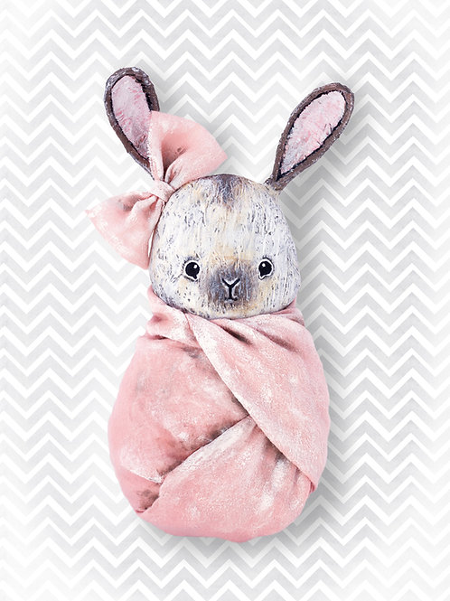 NENNI&FRIENDS Bunny poster pink