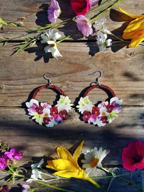 NEVER TOO LAKE Flower Power earrings