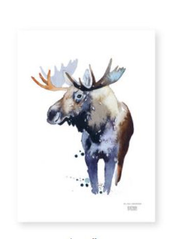 "Ester Visual  BULL MOOSE print (8.3"" X 11.7"")"