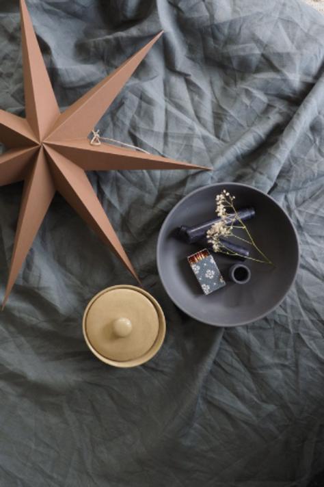 RiiKe paper star, set of 3, Coffee