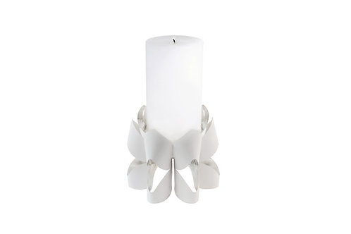 BE&LIV Palea Tall candleholder white