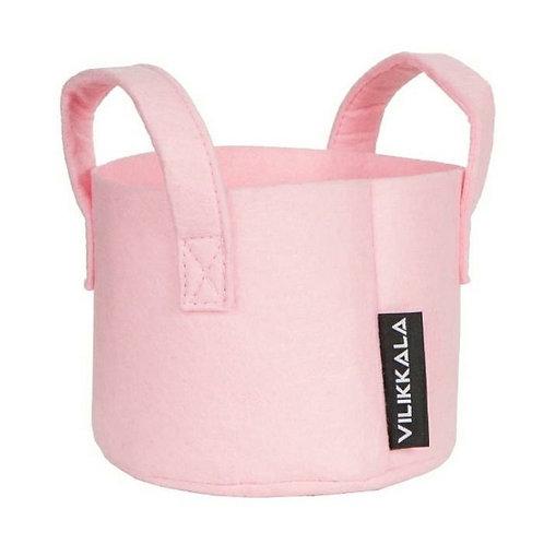 VILIKKALA Home Bag - Eco Friendly pink felt basket (0.79 gal)