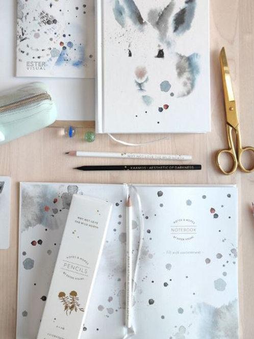 Ester Visual White Hare hardcover notebook
