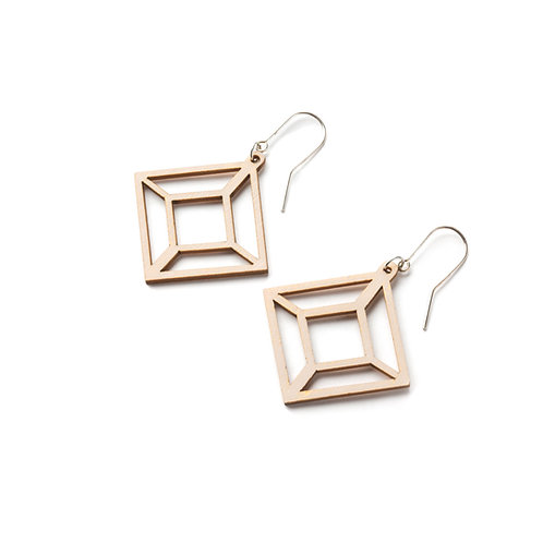 VALONA Himmeli wood earrings wood