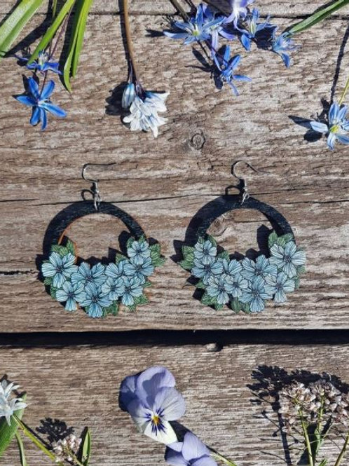 NEVER TOO LAKE Love & Survival sky blue earrings