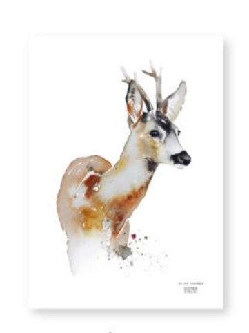 "Ester Visual  ROE DEER print (8.3"" X 11.7"")"