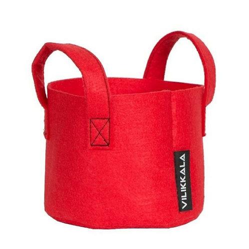 VILIKKALA Home Bag - Eco Friendly red felt basket (0.79 gal)