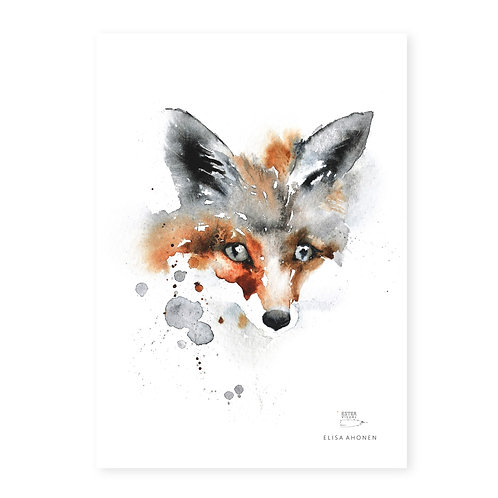 "Ester Visual Fox art card (5.12"" x 7.10"")"