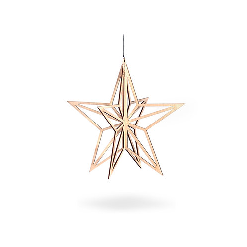 VALONA Star decoration, wooden small