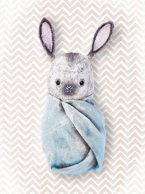 NENNI&FRIENDS Bunny poster blue