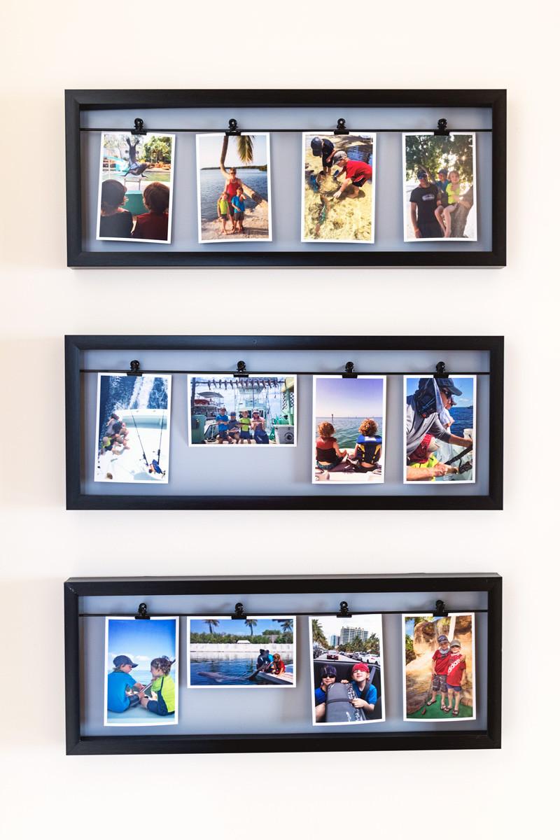 Hallway clip photo display