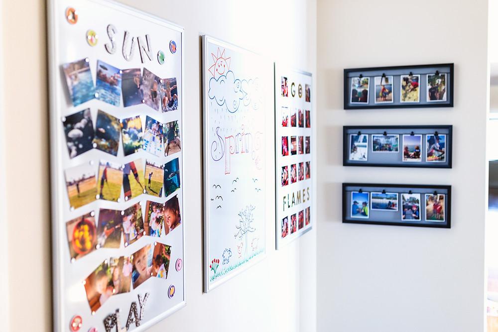 Hallway photo display