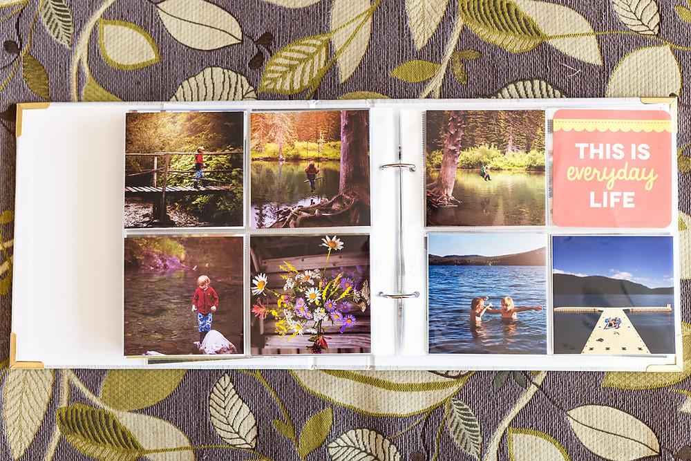 Inside photo album
