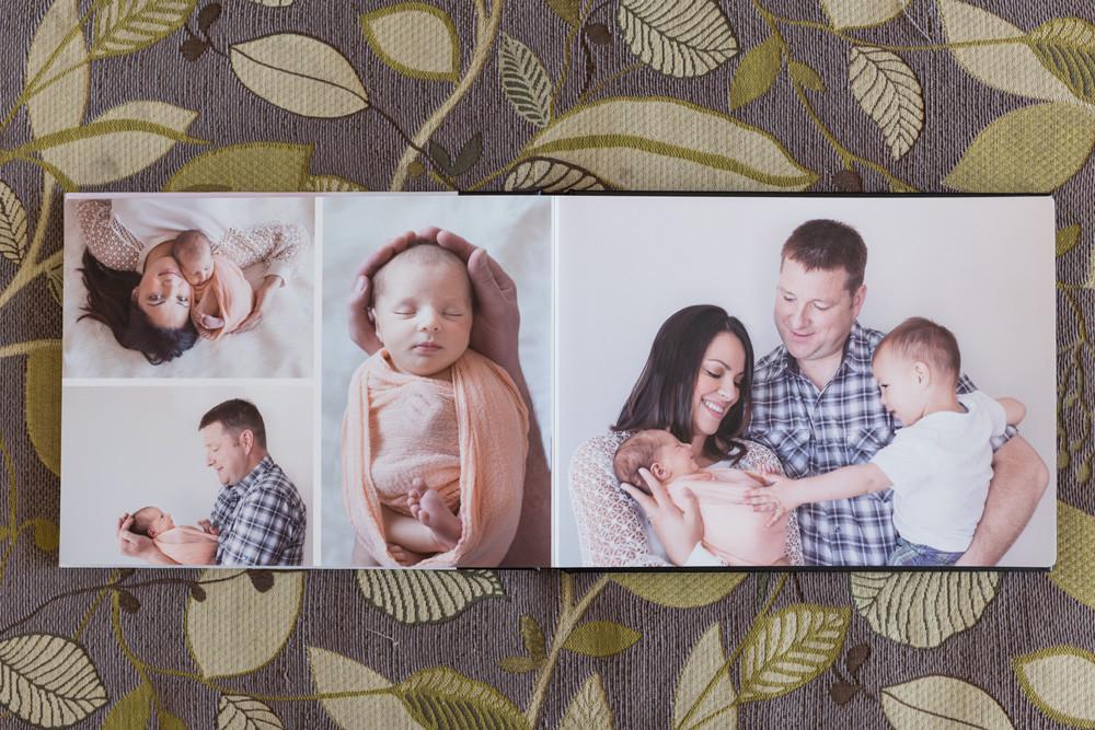Medicine Hat Newborn Photographer, custom album
