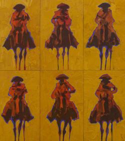 Seis Vaqueros Pequeños de Oro
