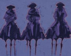 Vaqueros Pequeños Purple on Purple