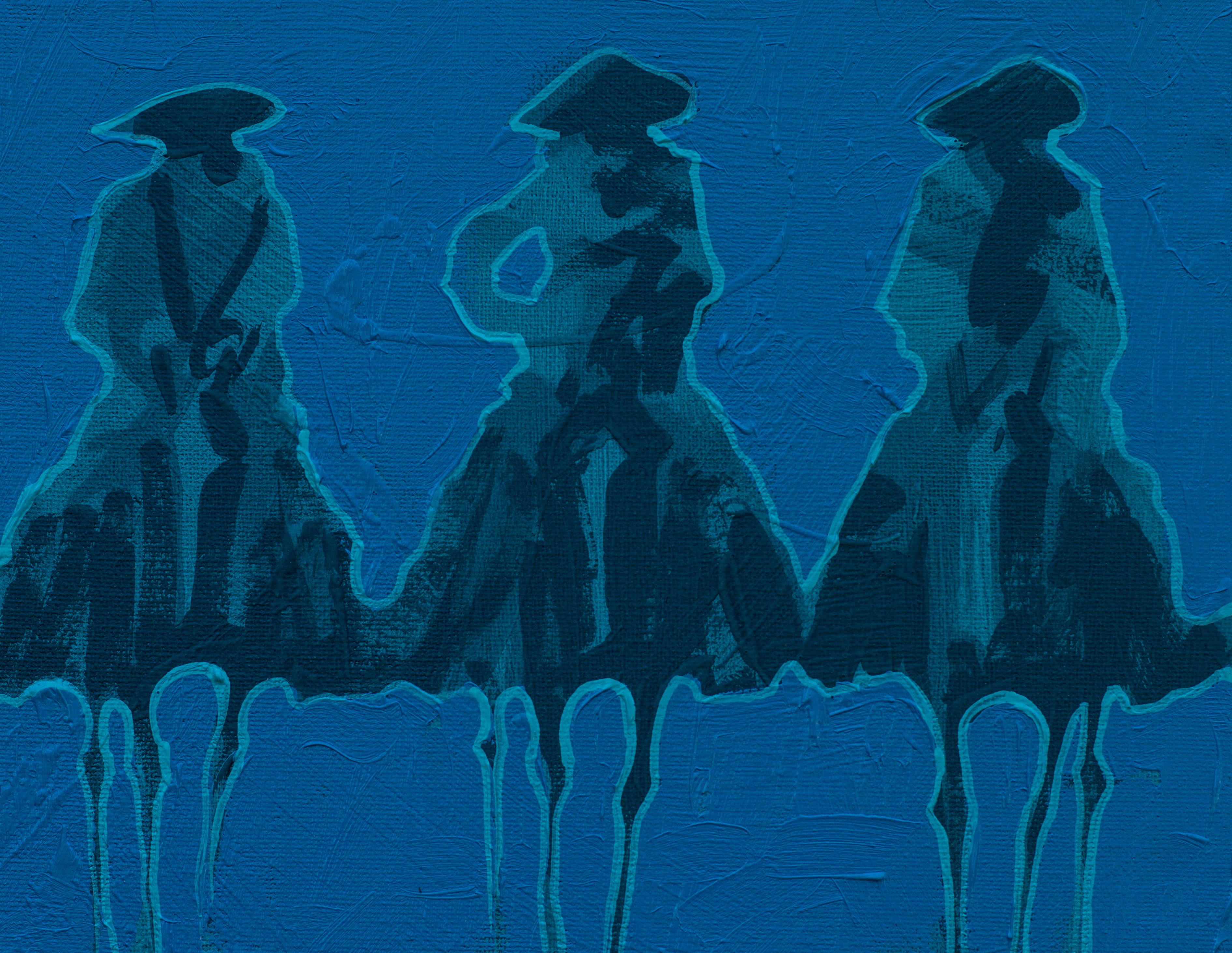 Vaqueros Pequeños Aqua on Aqua