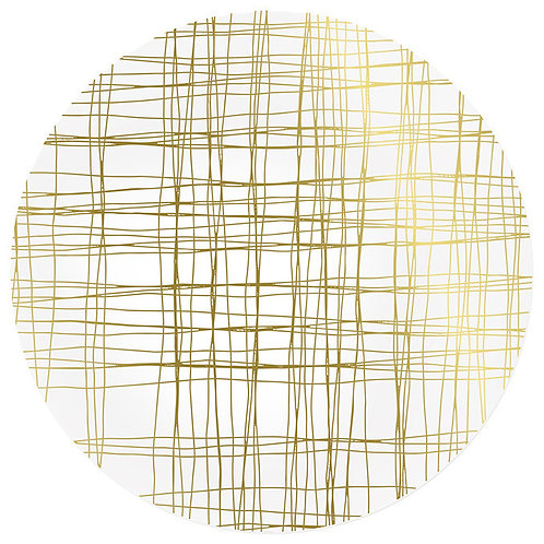 AU Orcopampa Placemat, Gold/Silver Reversible