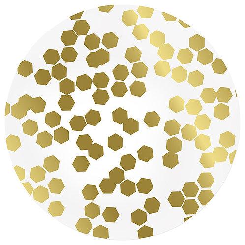 AU Macassa Placemat, Gold/Silver Reversible