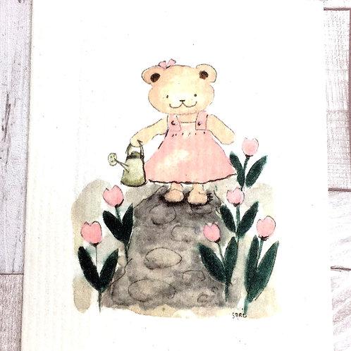 Schwammtuch Happy gardening