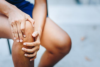 young women knee ache, healthcare concep