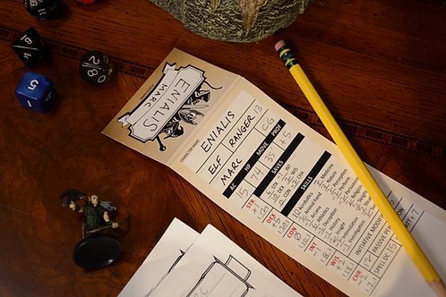 50 Blank Character Trackers D&D 5e